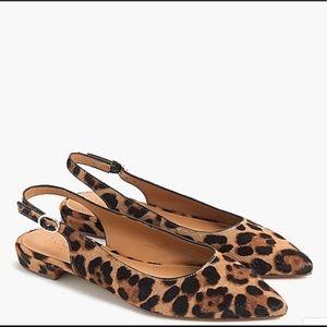 JCrew Leopard Print Calf Hair Flats Size 8